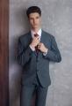 "Costum pentru barbati de culoare gri inchis""Giovanni Primo"""