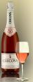 Шампанское  розовое полусладкое