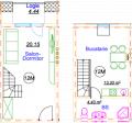 Одно-комнатная квартира 12M/CB146
