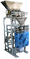 Installation for packing and packing of loose products with weight electronic batchers