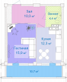 Apartments are 2-roomed