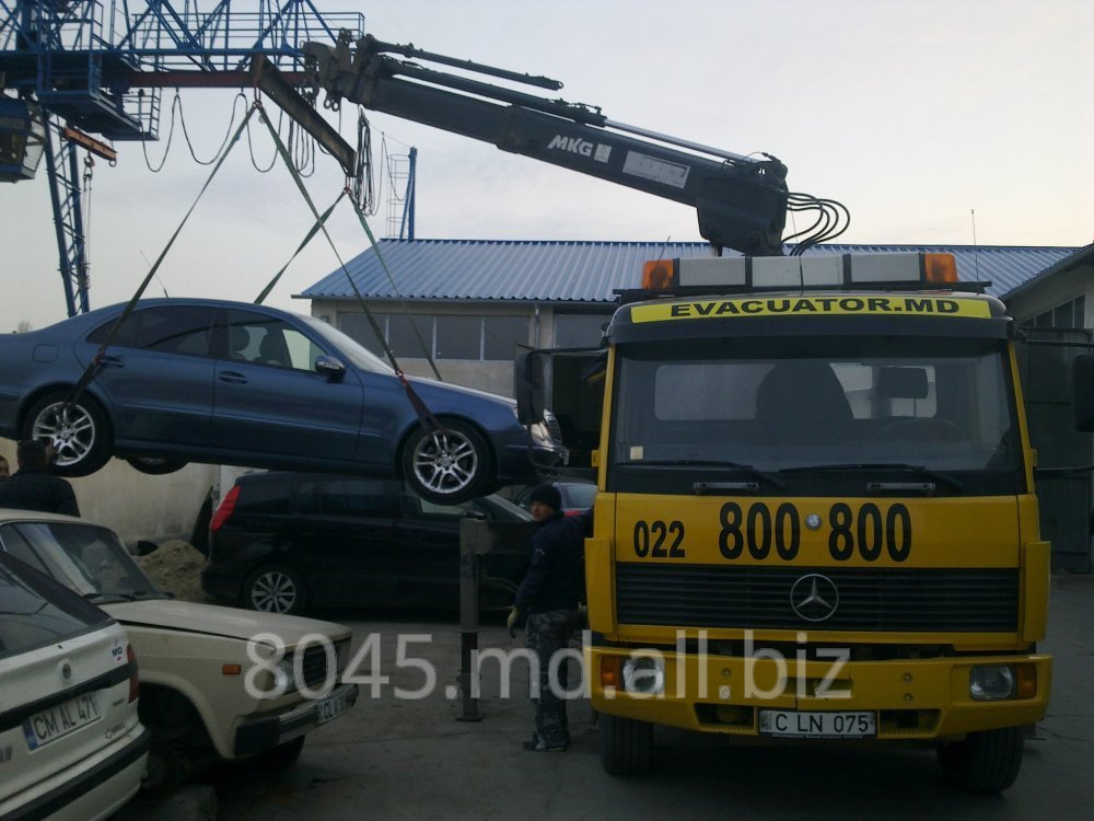 Order TOW TRUCKS WITH THE CRANE IN CHISINAU/MOLDOVA EVACUATOR IN CHIŞINĂU/MOLDOVA