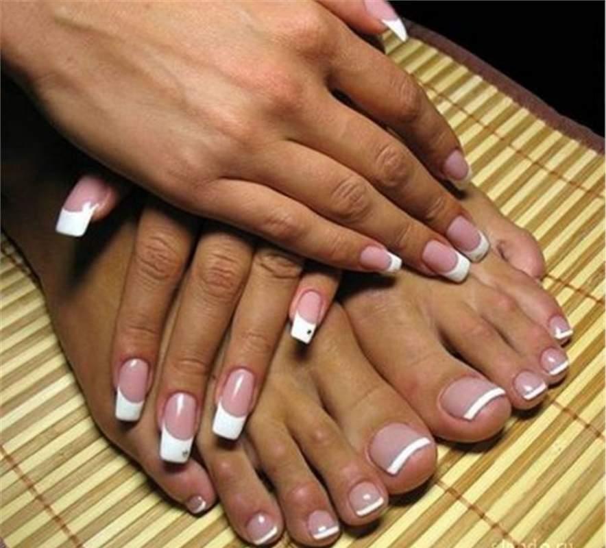 Педикюр гель лаком - nail art gel step by step - YouTube