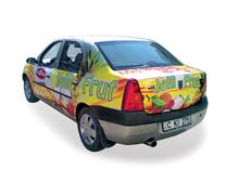 Реклама на бортах авто