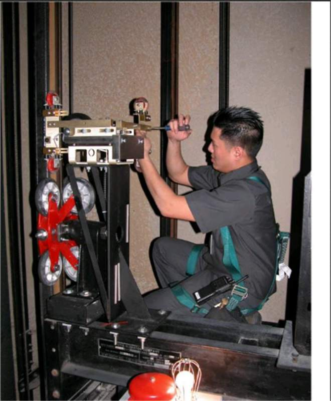 Dismantle of all types of elevators