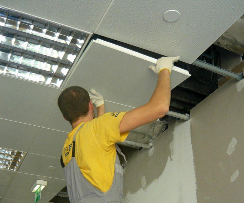 Услуги по монтажу подвесных потолков
