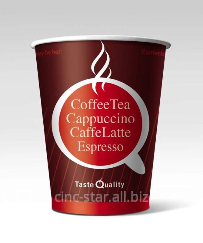 Заказать Бумажные одноразовые стаканчики с вашим логотипом