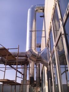 Заказать Проход вытяжных систем в здании S.A. «JLC» м.Кишинёв через крышу АБК.