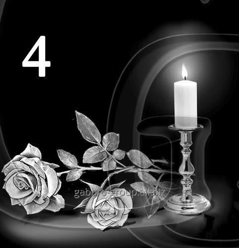 Заказать Гравировка розы, свечи, гвоздики вид 4