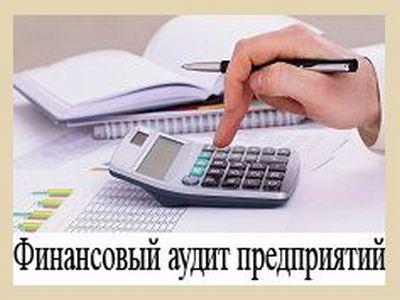 Заказать Финансовый аудит предприятий