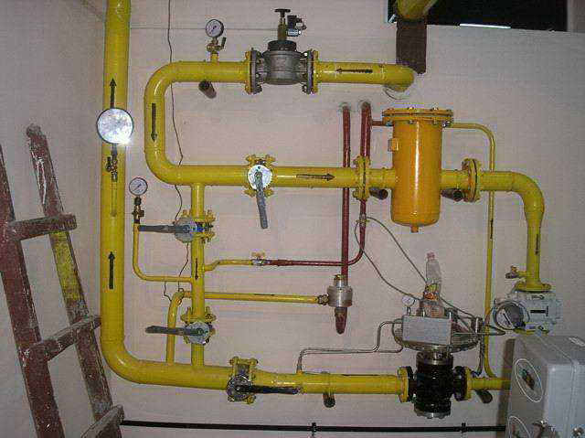 Order Design and installation of networks of gas supply