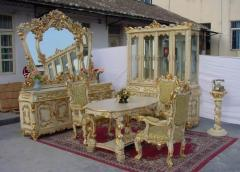 Restoration of ancient furniture, ladders and