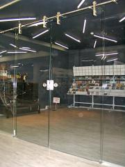 Frameless constructions - all-glass partitions and