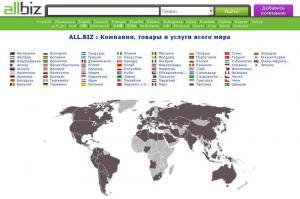 Регистрация компании в каталоге All.Biz