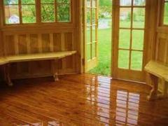 Internal finishing of a cottage