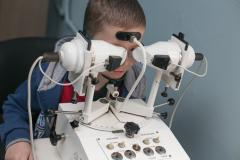 Children's surgery of an eye in Chisina