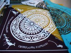 Silk-screen printing, stencil and pigmental