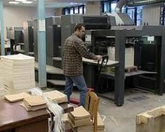 Printing house in Chisinau, the polygraphy press