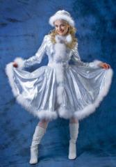 Carnival costume for adults, the Snow Maiden