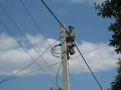 Repair and reconstruction of power lines of all
