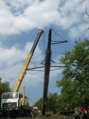 Repair and reconstruction of power lines (power