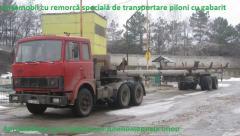 Transportation of lengthy freights. Transportation