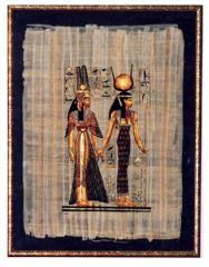 Decorating of the papyrus