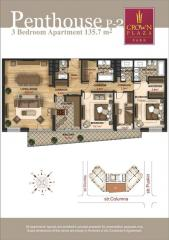 Luxury apartments in Crown Plaza Park. Penthouse
