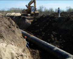 Construction of gas pipelines