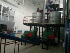 Lines of production of oil from sunflower, colza,