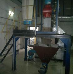 Service of the equipment on processing of seeds of