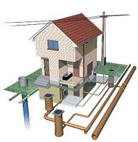 Montarea sistemului de canalizare/apeduct