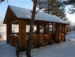 Construction of wooden arbors in Moldova