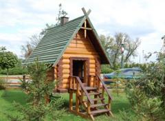 Деревянные домики для детских площадок