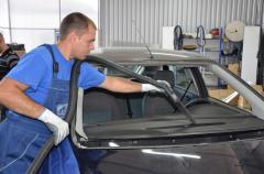 Put automobile glass