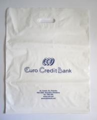 Corporate plastic bags with logo - one of