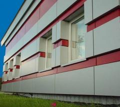 Aeration facades from aluminum composite panels