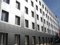 The warmed facades from aluminum composite panels