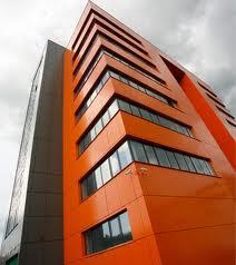 Finishing of buildings aluminum composite panels