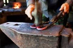 Forge works, forging of metals in Chisina