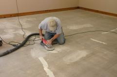 Repair of bulk floors, removal old, replacement,