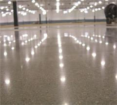 Concrete polishing. Polish of floors from