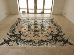 Polishing, polish of marble, granite. Recovery of