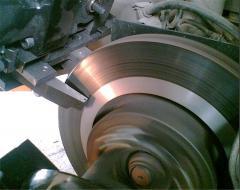 Устранение биения тормозных дисков (проточка на автомобиле)