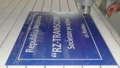 Production of designs, indexes, pavement signs,