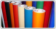 The press on a self-adhesive film (opaque, glossy,