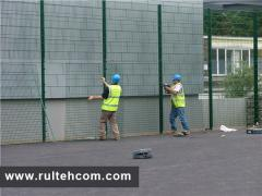 Installation of metal fences. Instalarea