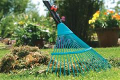 Cleaning of a garden after winter