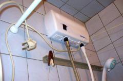 Монтаж электрического проточного водонагрвателя