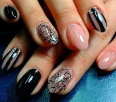 Наращивание ногтей: роспись